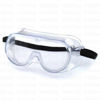 Outdoor Adjustable Strap Protection Safety Googles Anti Impact Lab Safety Goggles Clear Anti Fog Lens Eye