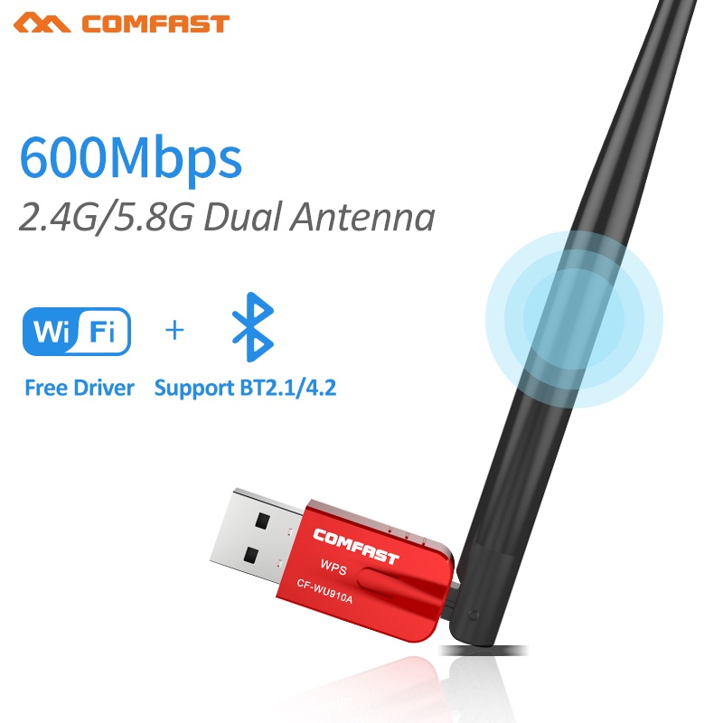600Mbps Dual band Mini USB Bluetooth 2.1/4.2 Adapter Wireless Bluetooth Dongle Transmitter For Windows 10 7 8 Vista XP Laptop ...