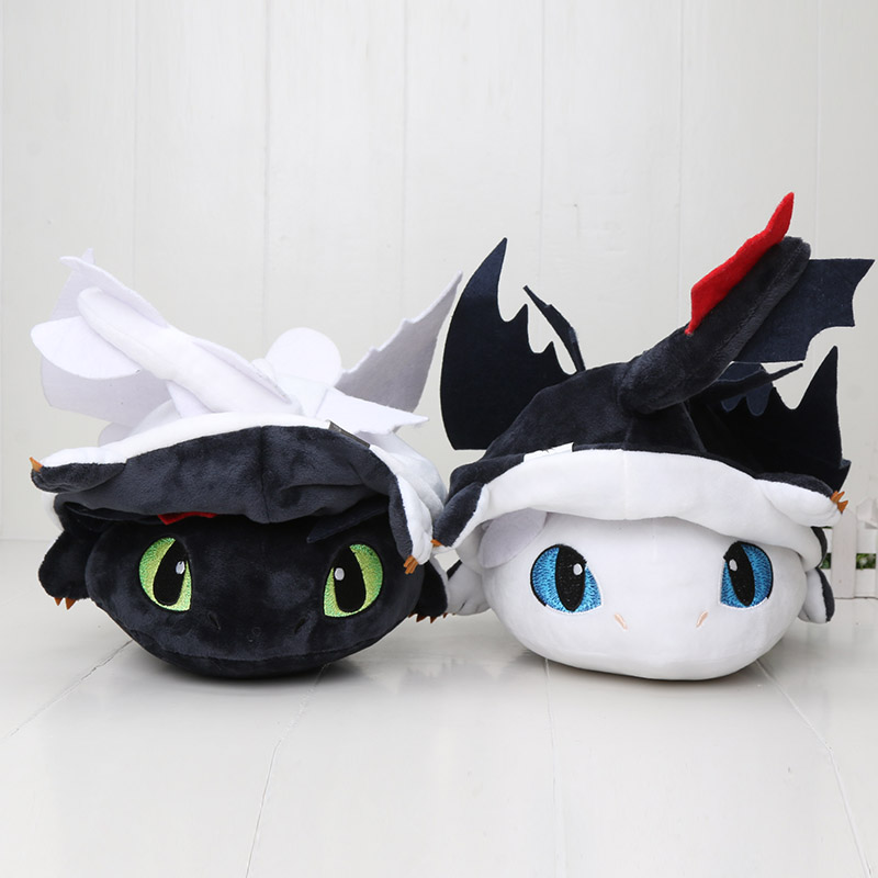 43cm How To Train Your Dragon 3 Plush Toy Changeable Toothless Night Fury Light Fury Stuffed Plush Doll