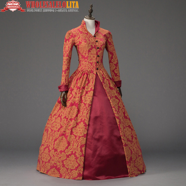 Printing Queen Elizabeth I / Tudor Gothic Jacquard Christmas Dress Game of Thrones Gown Theater