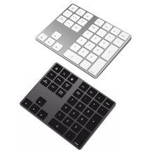 Черный и серебристый дополнительно 34 клавиши мини-цифра Беспроводная Bluetooth цифровая клавиатура для Apple PC Клавиатура цифровые клавиатуры