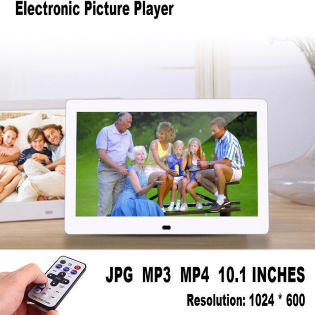 "10.1"" HD Digital Photo Frame Picture Mult-Media Player  MP3 MP4  Alarm Clock For Gift"