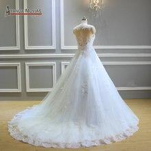 Amanda Novias New Arrival A Line Lace Wedding Dress 2019 NS3368
