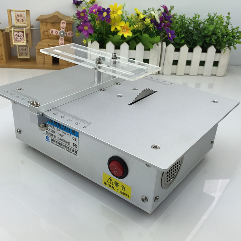 Aluminum Alloy Micro Table Saw High Precision PCB Cutting Machine Mini DIY Model Saw Precision Woodworking Saws