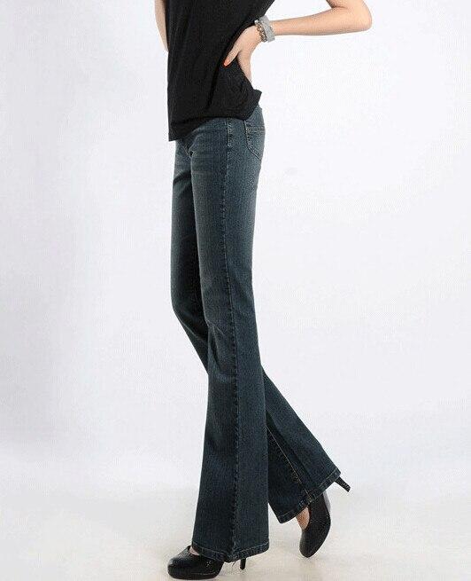 Весенние и летние женские повседневные тонкие джинсы размера плюс с высокой талией