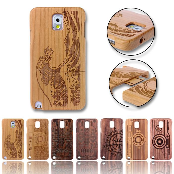 Natural Bamboo Wood Case For Samsung Galaxy Note 7 S7 Edge Wooden Cover Note 2 3