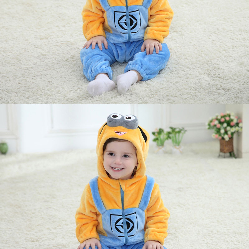 Minions Onesie Baby Romper Good Quality Infant Clothes Newborn Pajama Kigurumis Kids Overall Zipper Outfit Fancy Anime Costume | Happy Baby Mama