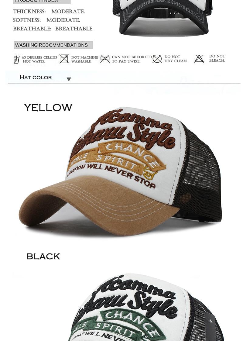 2441abaf977 FLB  5 panels embroidery summer baseball cap mesh cap Gorras Hombre ...