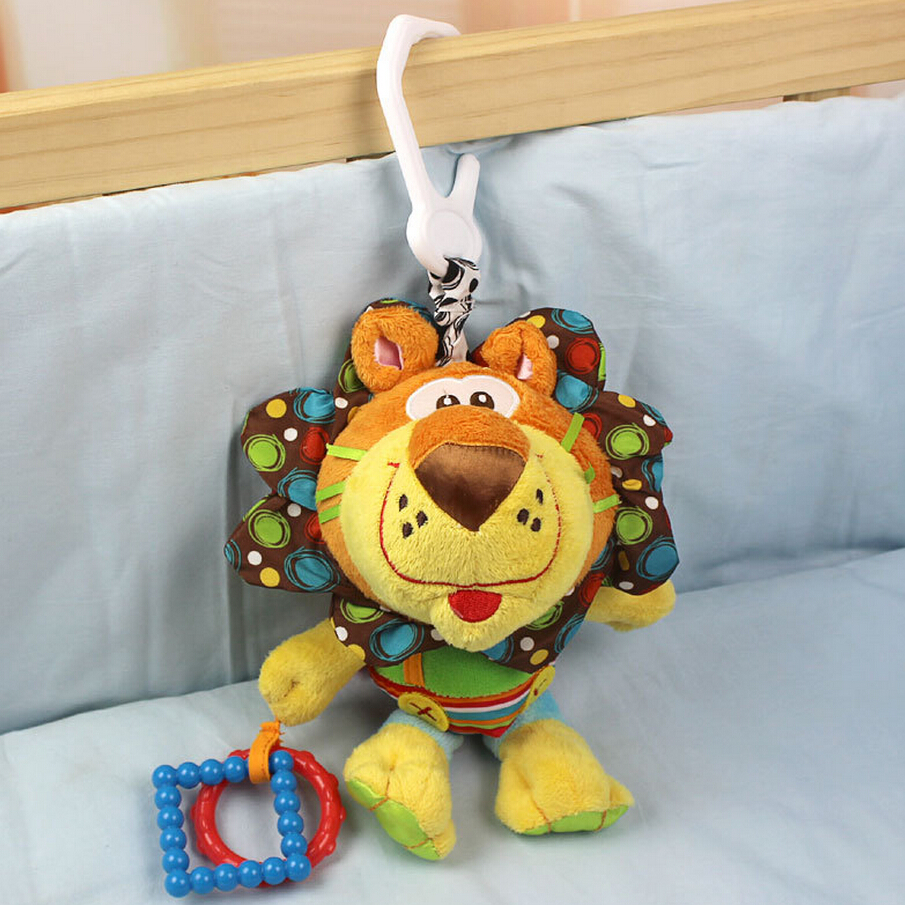 Little lion multi- touch multi-function animal rattle mobile mobility in the crib lathe hang baby cloth toys 0-12 month