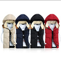 Male imitation down cotton vest vest couple models fashion Slim models fall and winter clothes men's vest