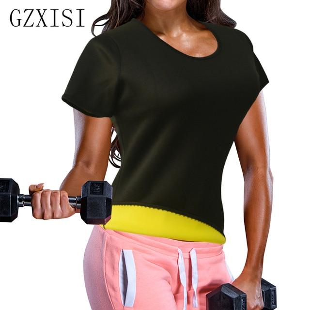231cc54915 Women Neoprene Sweat Sauna Body Shaper Super Stretch Tops Fat Burning Waist  Trainer Workout Shirt Girly Hot Slimming Shapewear