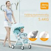 Jerrybaby складная детская коляска Легковесная переносная тележка с одной рукой, ударопрочность, детская коляска, самолет 5,4 кг