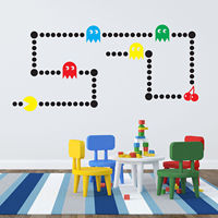 Pacman Wall Sticker Huge X 83 Piece Retro Decal Arcade Game Transfer Decoration Os1526 Free Shipping