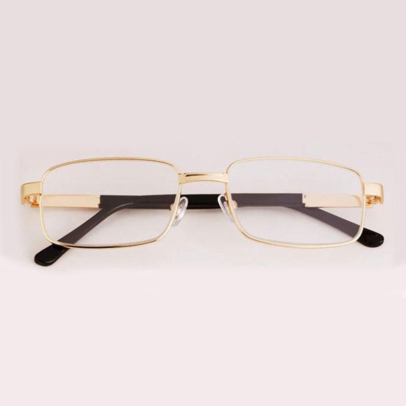 Crystal Glasses Reading Glasses Prescription Eyewear Retro Men Anti-fatigue  Stainless Steel Spring Hinges Frame Gafas De Lectura