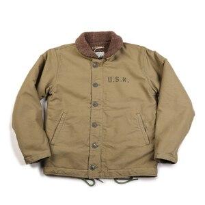 Image 2 - NON STOCK Khaki N 1 Deck Jacket Vintage USN Military Uniform For Men N1