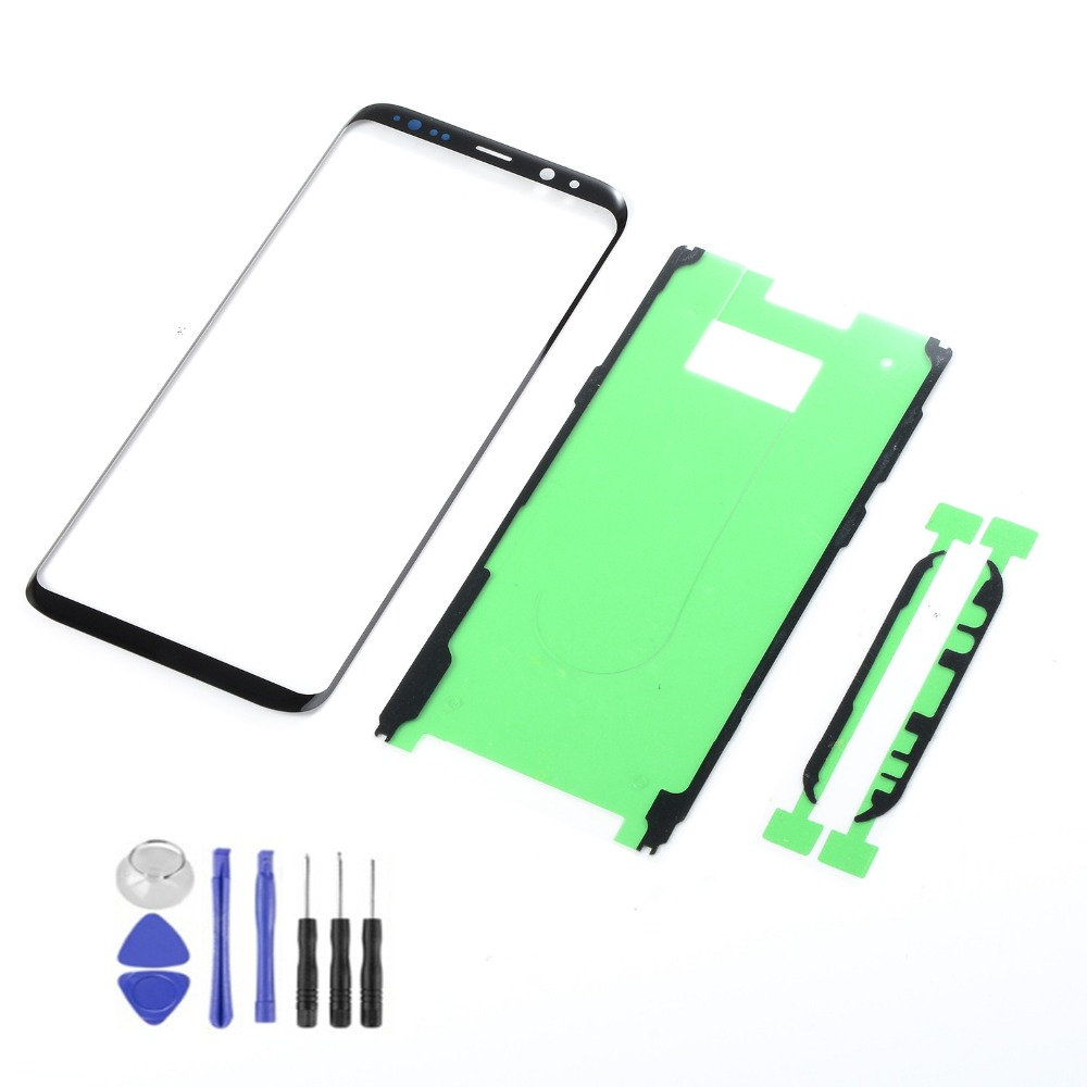 For Samsung Galaxy S9 S8 Plus Note 8 LCD Display Front Glass Touch Screen Sensor+3M Glue +Tools