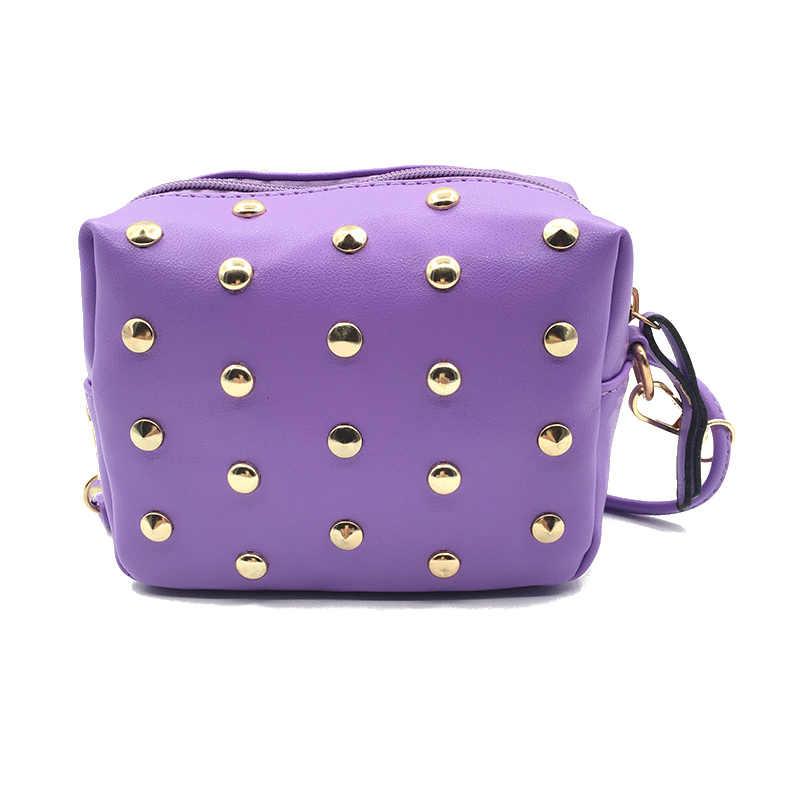 Mulheres mini moda de luxo embreagem senhoras móvel noite bolsa famoso designer novo rebite casual crossbody ombro sacos do mensageiro