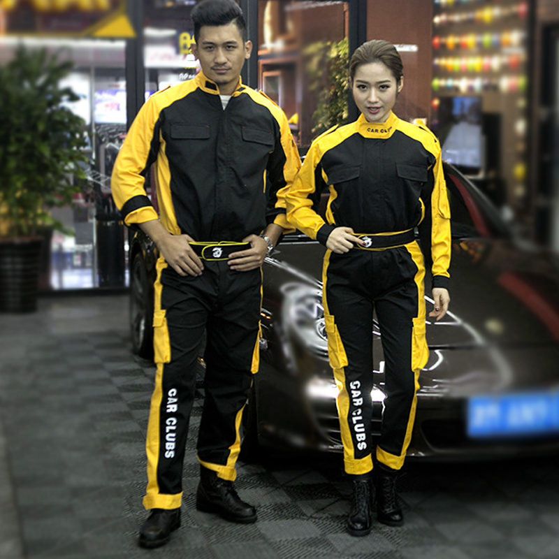 2019New Work Clothing Sets Men Women Workwear Suits Jackets+Pants Spring Autumn Long Sleeved Auto-repair Beauty Workers Uniforms