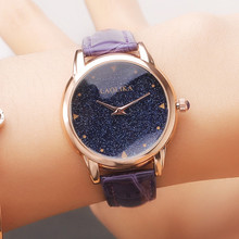 2019 Watch Student Fashion Trend Belt Quartz Casual Minimalist Starry Sky Female &  Leather Strap