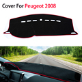 New Car-Styling Dashboard Car Covers Mats Shade Cushion Car Styling Carpet Photophobism Pad For Peugeot 2008 2014 2015 LHD