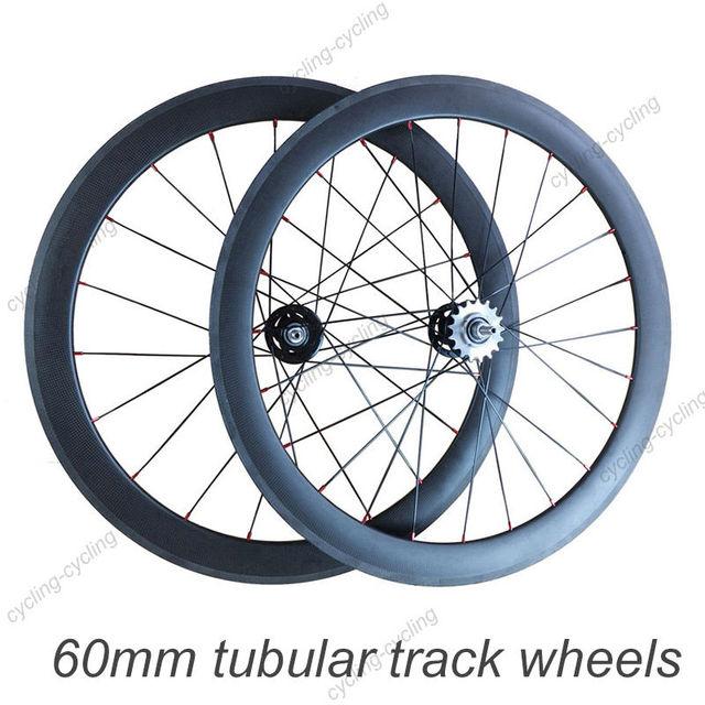 carbon wheels fixed gear track wheels 23mm width 60mm tubular carbon track wheels single speed carbon road bike track wheels