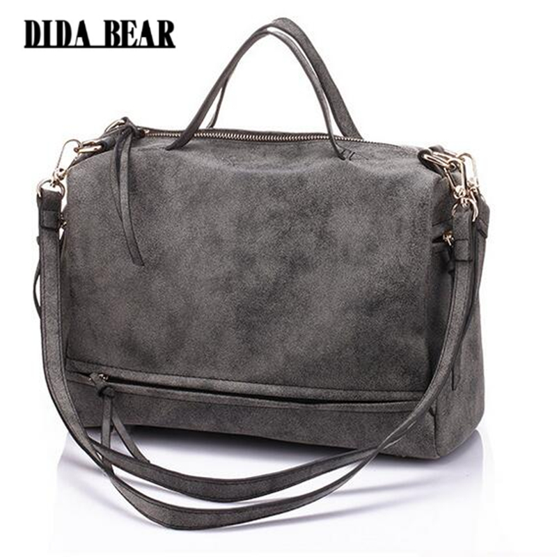 2017 New women handbag PU leather tote bag Retro shoulder messenger bags Tote Shopping bag green gray blue red Femme Sac a Main