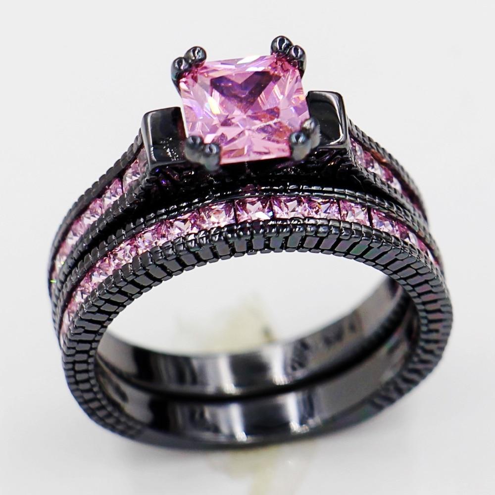 Pink Shire Wedding Ring Sets Duashadi