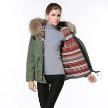 Free shipping Spring style Korean cotton hood jacket raccoon fur hooded woman coats and jackets
