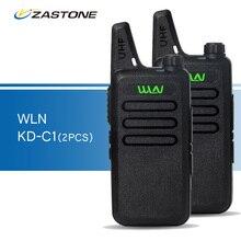 2 шт./лот wln KD-C1 черный рации UHF 400-470 мГц портативный радиолюбителей портативный трансивер kd-c1 Мини Walkie рации