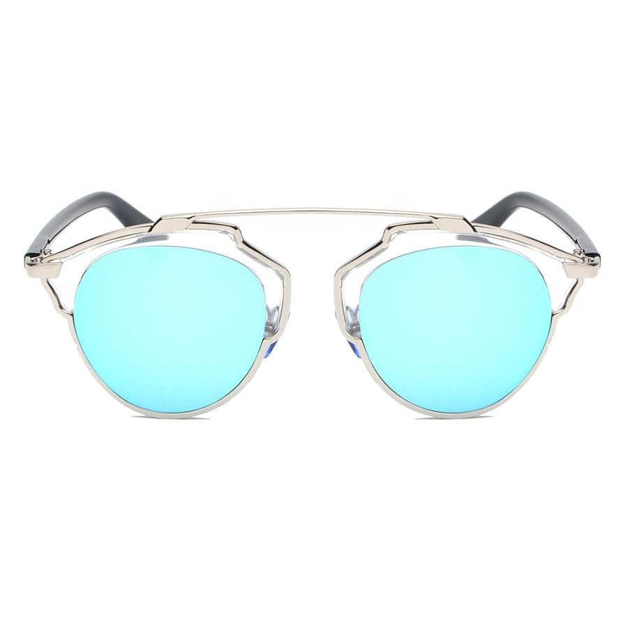 Cat Eye CD Sunglasses Women Round Shades Brand Designer Sun Glasses So Vintage Real Sunglasses Men Classic Glasses Gafas De Sol