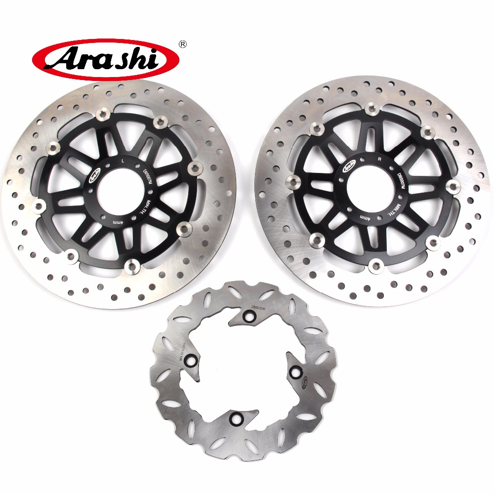 ARASHI HORNET 600 Brake Disc For HONDA CB F HORNET 600 1998 1999 Front Rear Brake Rotors CBF 600 adjustable long folding clutch brake levers for honda gb 500 clubman 87 88 89 90 91 cbf 600 cb 600 f s hornet 02 03 04 05 06