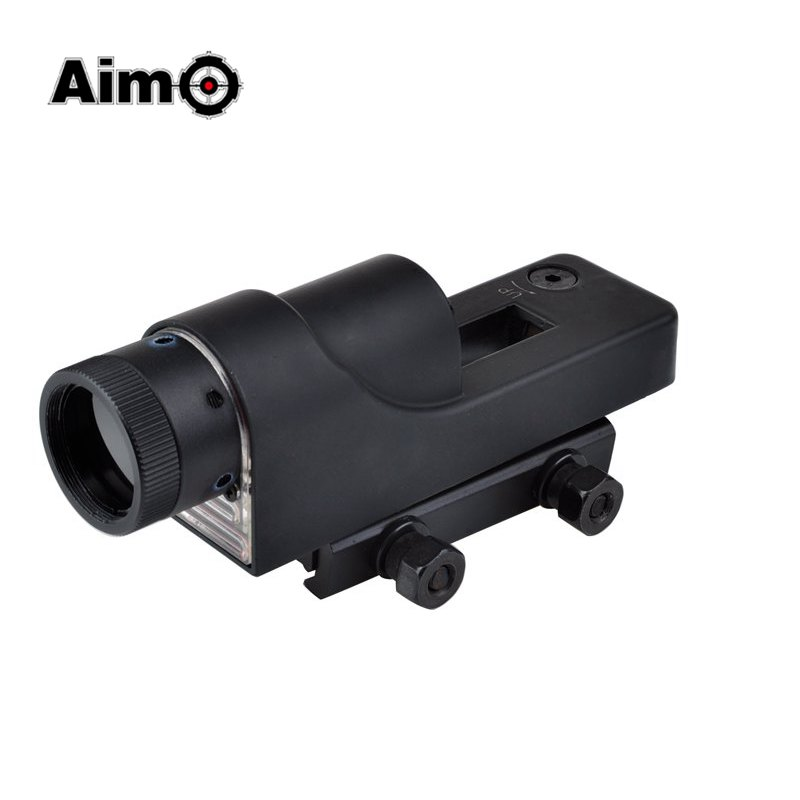 Aim-O Airsoft Shockproof Riflescope Red Dot Scope For Airgun 1x24 RX06 Reflex Triangle Reticle Batteries AG13 AO5009 aim o red dot tactical hunting sight scope srs reflex 1x38 iron optics riflescope for airgun ao3040