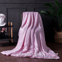 New Mulberry Silk Pink Quilt Blanket Four Seasons Universal King Size Bed Double Size Stitching Process Bed Linings