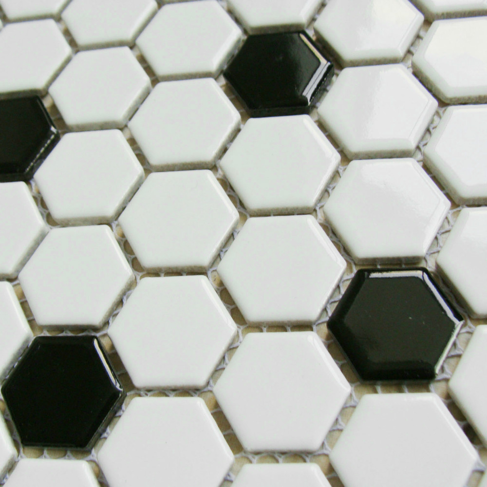 wholesale Classic form Balcony Mosaic black and white small ...