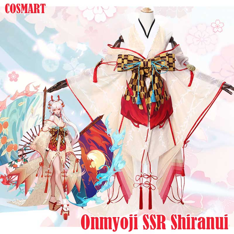 [June Stock]Hot Game Onmyoji SSR Shiranui Diver Ali Kimono Cosplay Costume Uniform Dress Halloween Costume For Women FreeShip