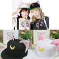 Free shipping Anime Sailor moon Fashion Hat Harajuku Luna Cat Baseball Cap Hat Cosplay Costume Accessory Hat New