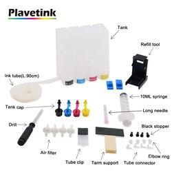 Plavetink zbiornik z atramentem Ciss system stałego zasilania atramentem do Canon PIXMA TS3140 MG3040 tusz kartridż do Canona 3140 3040 drukarki w System stałego zasilania atramentem od Komputer i biuro na