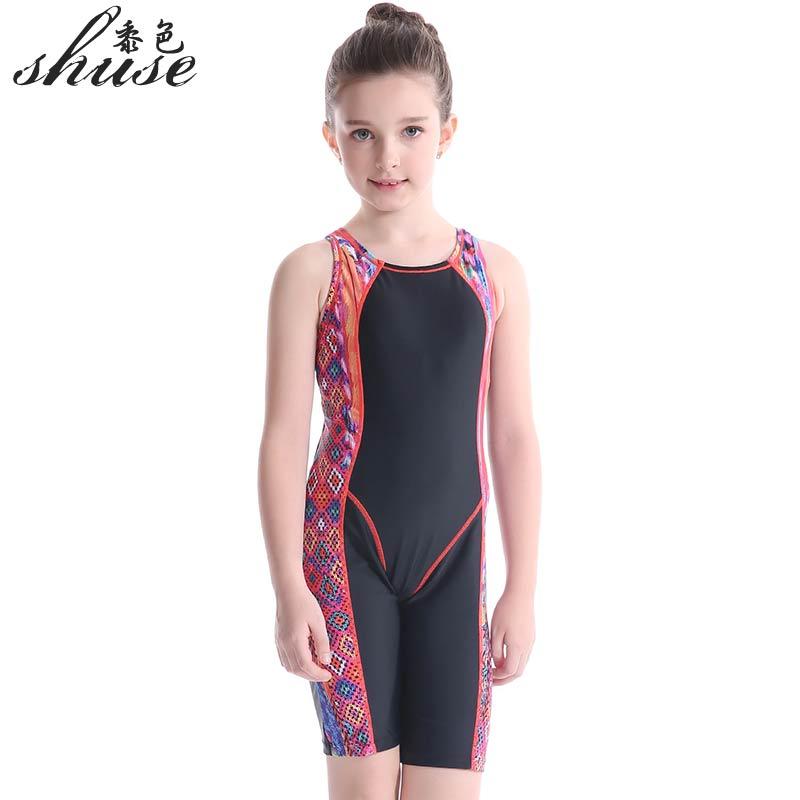 2017 Girls Sports Swimwear Children Swimsuit Swimming Wear Piece Baby Bathing