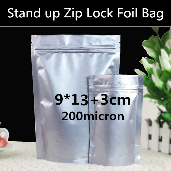 FOOD STORAGE BAG BULK DISCOUNT WITH ZIP LOCK 200 x ALL CLEAR STAND UP POUCH
