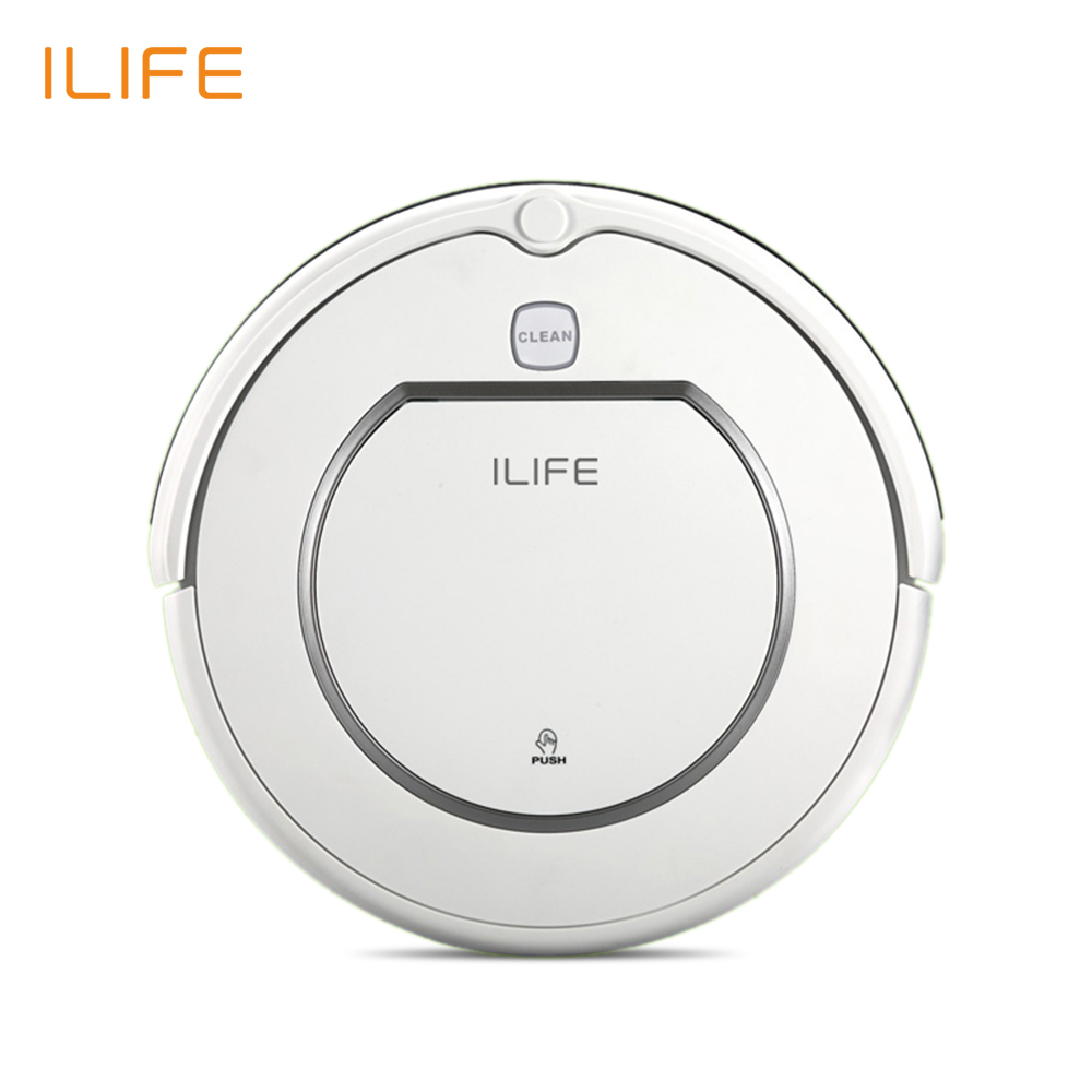 ILIFE V1 Robot Vacuum Cleaner 500Pa Power Suction Automatic Intelligence Sweeper Cliff Sensor Efficient Hepa Cleaning