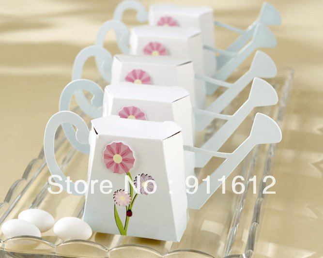 Free Shipping Mini Watering Can Favor Box 100pcs Lot Candy