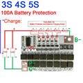 3S 4S 5S 100A 80A LiFePO4 литиевая батарея Защитная плата W баланс зарядки BMS PCB 9 6 V 12 8 V 16V батареи