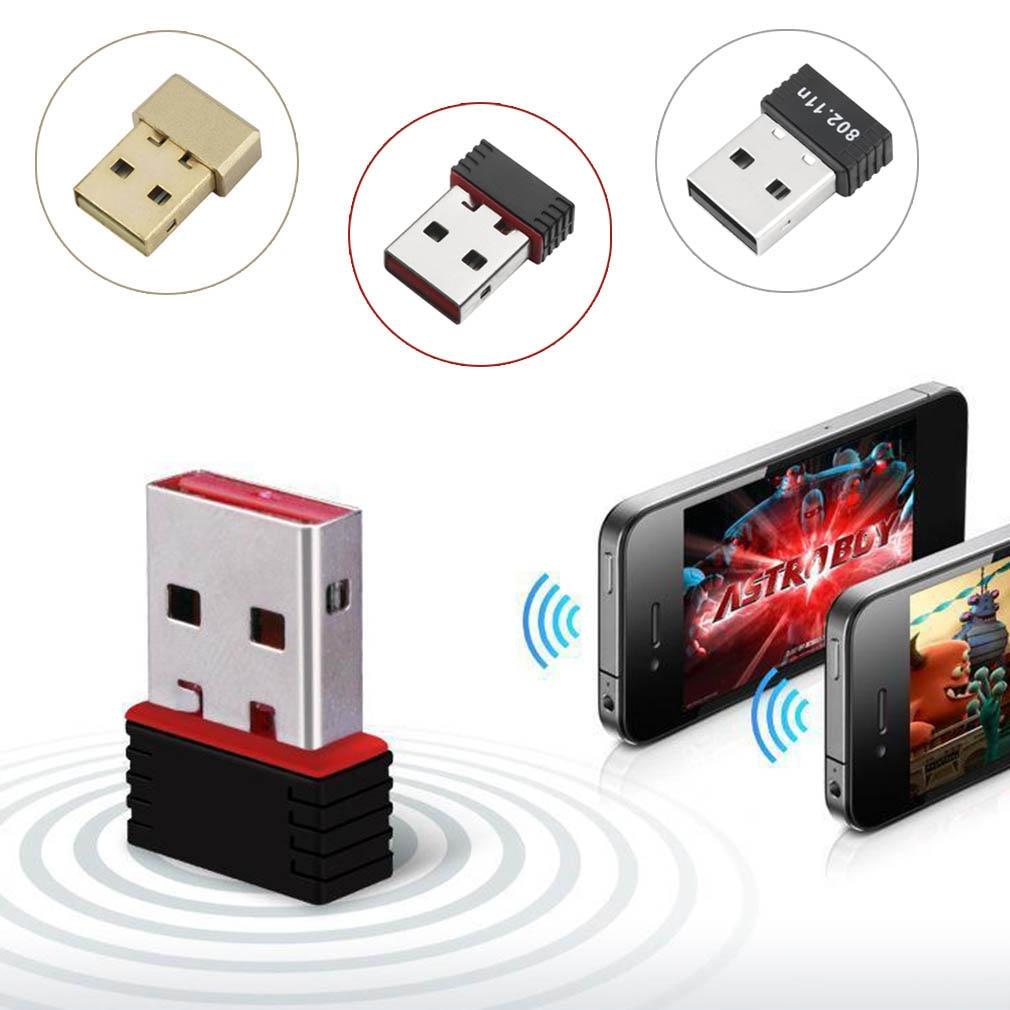 Mini adaptador WiFi 150M antena WiFi USB tarjeta de red inalámbrica para ordenador 802.11n/g/b receptores portátiles USB Wifi de alta calidad