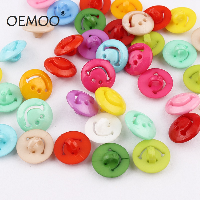 100pcs/50pcs Monopoly cartoon smiley buttons baby face child buckle accessories wholesale 15mm sewing supplies