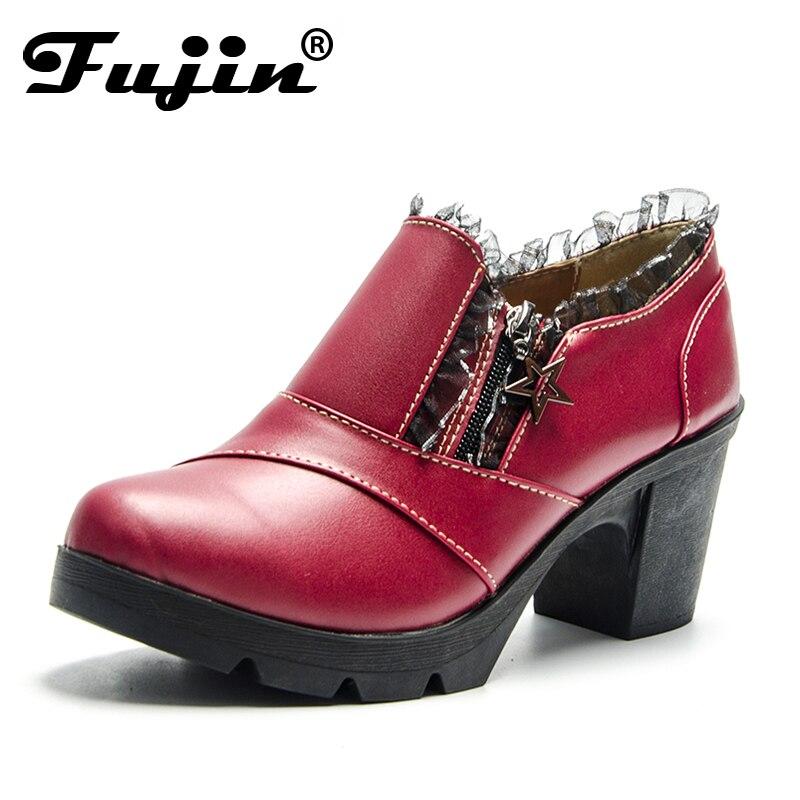 Fujin 2018 New Fashion Winter Boots Female Women Shoes Cow