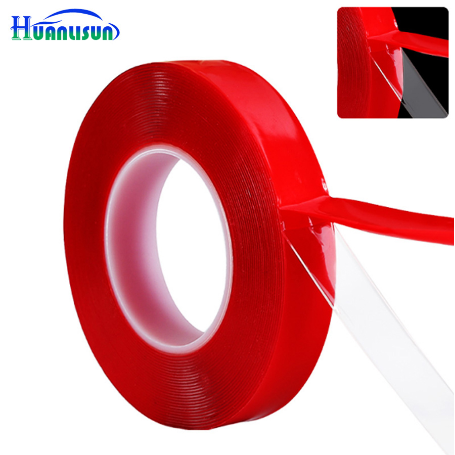 HUANLISUN free shipping 3m x 10mm No Traces Adhesive Sticker Transparent Silicone Double Sided Tape Sticker 3m auto tape size 10 15 20mmx3m double sided sticker acrylic foam adhesive car attachment interior tape free shipping