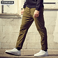 BIG BUY Casual Men Pants 4XL 5XL 6XL Plus Size Pantalon Homme 2017 Mens Trousers Khaki Black Red Blue Baggy Pants Men 1272