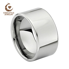 12MM Mens טונגסטן נישואים מבריקים אירוסין טבעת מלוטש מבריק נוחות Fit