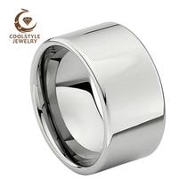 12MM męska obrączka ślubna z wolframu błyszczący pierścionek zaręczynowy polerowany błyszczący Comfort Fit