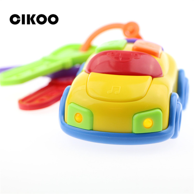 Cikoo New Arrivals Car Wheel Slidably Music Key Car Colorful Color Baby Toys Perception Exercises Cars for 2-4 Years Old